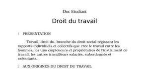 Droit social droit du travail