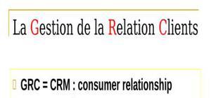 Cours de gestion de relation client (grc /crm)