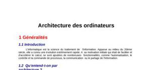 Architecture des ordinateur part 1