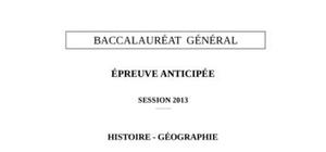 Épreuve anticipée Histoire-Géographie Bac S 2103
