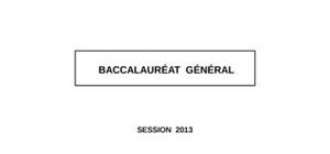 Sujet de Littérature Bac L 2013