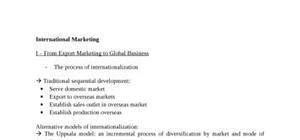 International marketing  : from export marketing to global business