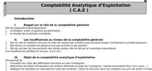 Cours sur la comptabilité analytique