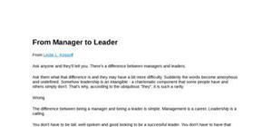 Leader ou manager choisissez votre camp