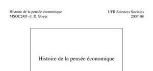 Histoire de la pensée économique contemporaine