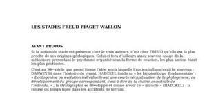 Piaget+ wallon freud