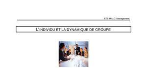 L'individu et la dynamique de groupe