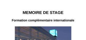 Rapport de stage hotellerie