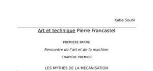 Francastel - arts et techniques chapitre 1