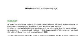 Les bases du html pour les débutants