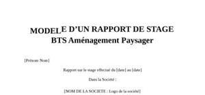 Rapport de Stage BTS Aménagement Paysager