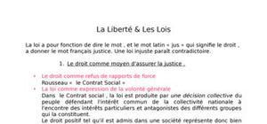 La liberté et les lois