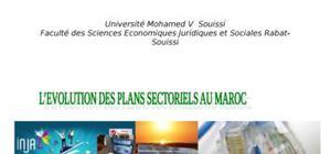 L'évolution des plans sectoriels au maroc