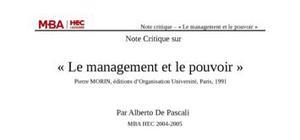 Le management et le pouvoir