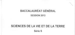 Sujet SVT Washington 2013 : Bac S