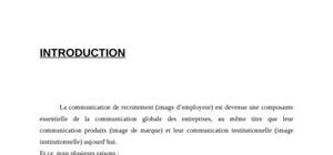 Communication de recrutement
