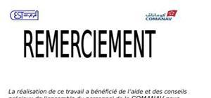 Rapport de stage comanav maroc