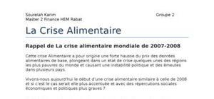 crise alimentaire 2011