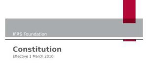 Ifrs foundation revised constitution march 2010