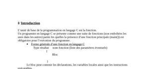 Programmation language c