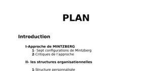 Structures organisationnelles