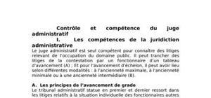 Contrôle et compétence du juge administratif