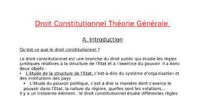Constitution droit constitutionnel dissertation