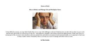 Stress at work lesson
