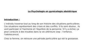 Psychologie en gynécologie obstétrique