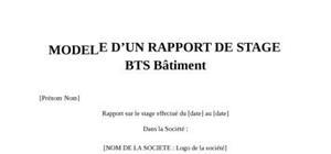 Rapport de Stage BTS Bâtiment