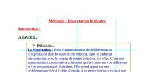 Méthode : la dissertation littéraire