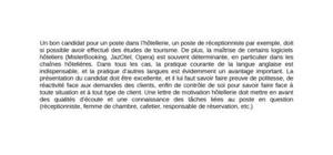 Lettre de Motivation Hôtellerie