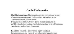 Outils d'information