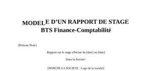 Rapport de Stage BTS Finance Comptabilité