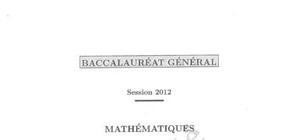 Sujet Bac S Mathématiques Spé Pondichéry 2012