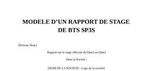 Rapport de stage bts sp3s