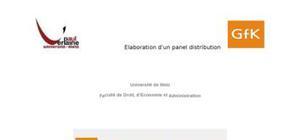 Elaboration d'un panel de distribution
