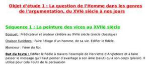 Objet d'étude 1 : la question de l'homme dans les genres de l'argumentation, du xviè siècle à nos jours / bossuet : oraisons funèbres (henriette d'angleterre)