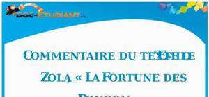Commentaire de texte : « La Fortune Des Rougon » d'Émile Zola