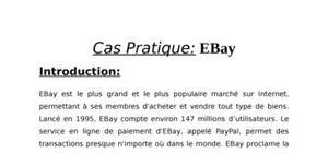 E-commerce : etude du cas de l'entreprise ebay