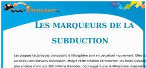 Les marqueurs de la subduction : Cours Terminale S