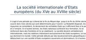 Les relations internationales (partie 3): la société internationale d'etats européens (du xve au xviiie siècle)