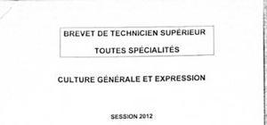 Culture Générale et Expression : Fiche de Révision BTS MUC