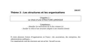 Les structures juridiques