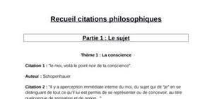 Recueil citations philosophiques