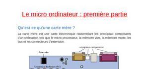 Le micro ordinateur en détail