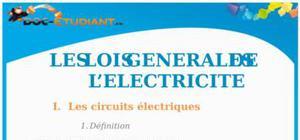 Les lois générales de l'électricité : Cours Terminale S