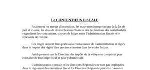 Contentieux fiscal en algerie
