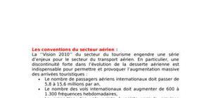 Les conventions du secteur aérien