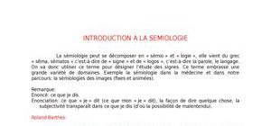 Cours de sémiologie